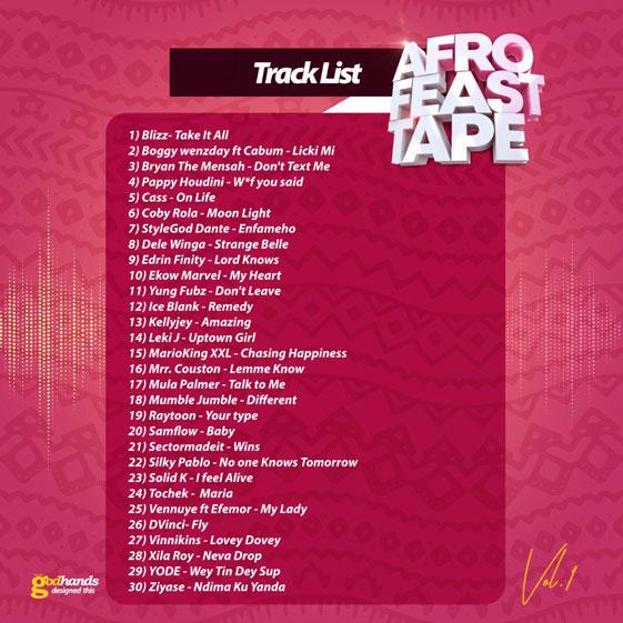 KV-Bangerz-1Africa-Mixtape-Tracklist